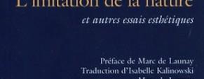 Recension – L'imitation de la nature et autres essais.