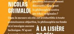 Recension – Nicolas Grimaldi, à la lisière du réel