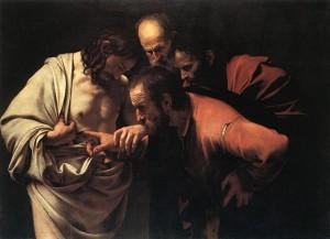 Le Caravage - L'incrédulité de Saint Thomas Domaine public