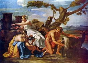 8-Nicolas_Poussin_-_Jupiter_enfant_nourri_par_la_chèvre_Amalthée