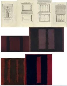 Planche 3 plan de Vitruve et tableaux de Rothko a la Tate Gallery