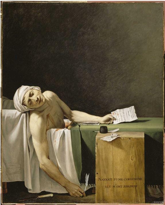 Planche 4-1 Copie de la mort de Marat Louvre