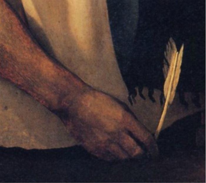 Planche 9 détail La mort de Marat - David