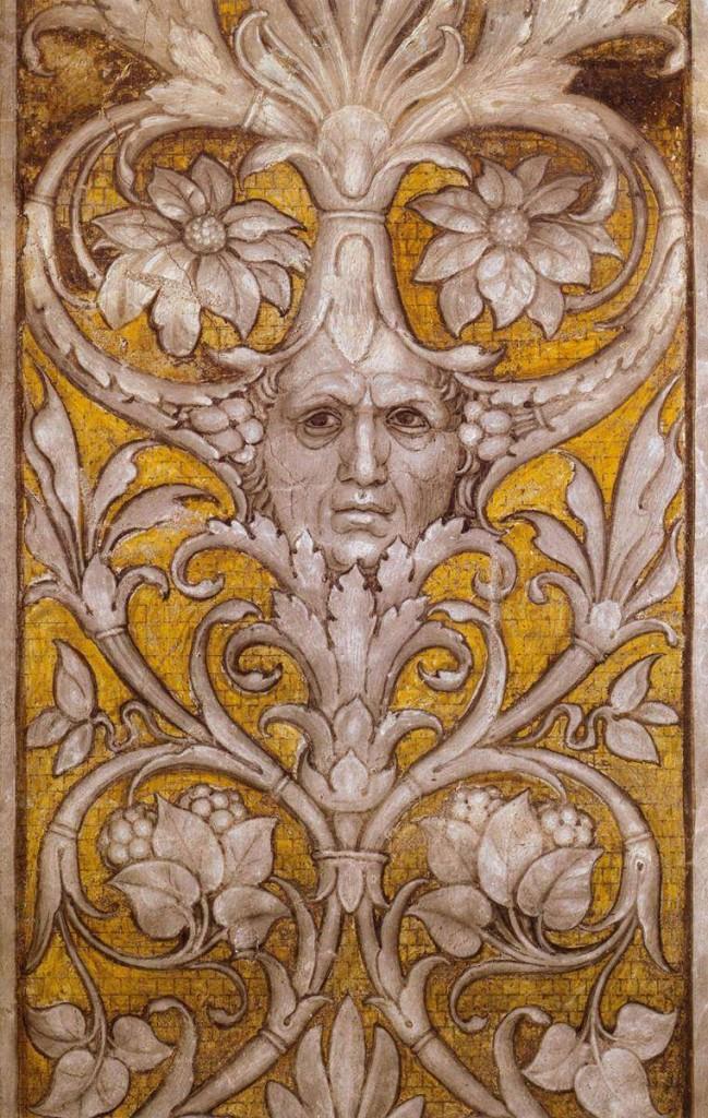 planche 6 mantegna autoportrait colonne